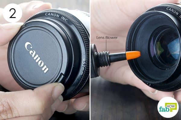 dislodge the dust with lens blower to clean dslr the right way