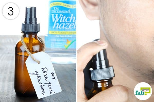 apply diy homemade aftershave spray