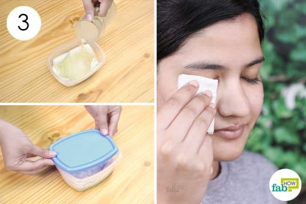 soak to make diy homemade makeup remover