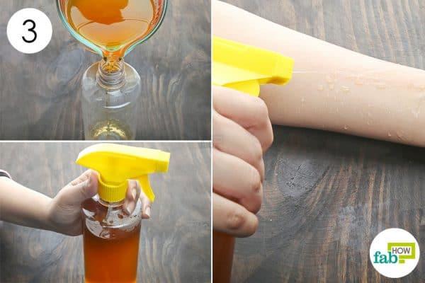 transfer to make diy bug spray for skin