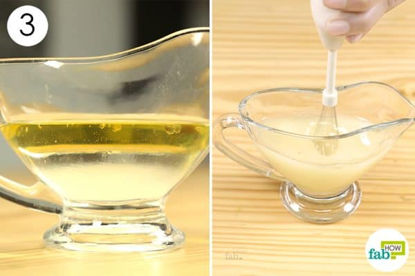 whip mixture to make diy homemade make up remover