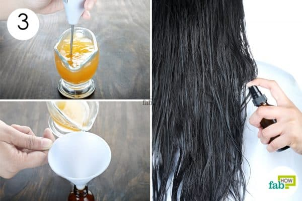 whisk to make diy homemade hair conditioner
