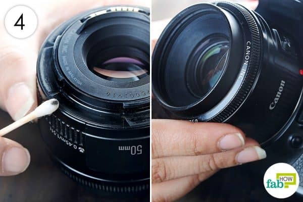 clean the rim of the lens with a q tip to clean dslr the right way