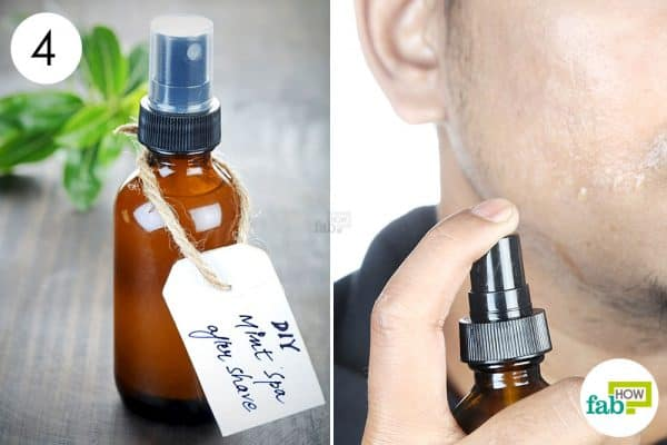 store and apply this diy homemade aftershave spray