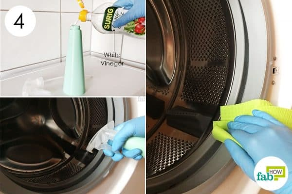 clean the seal with white vinegar to clean front-load washing machine