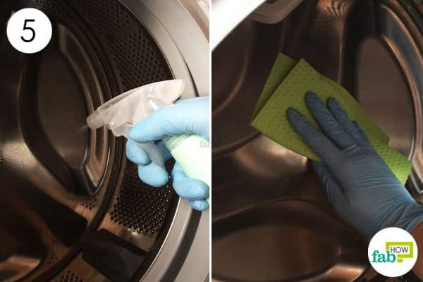 scrub the drum with white vinegar to clean front-load washing machine