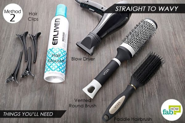 things needed to blow-dry straight hair