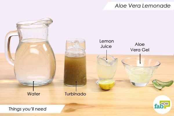 things youll need to make aloe vera lemonade
