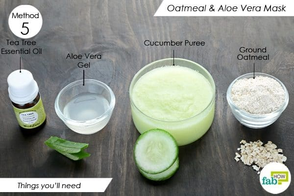 things you ll need to make oatmeal face mask for acne