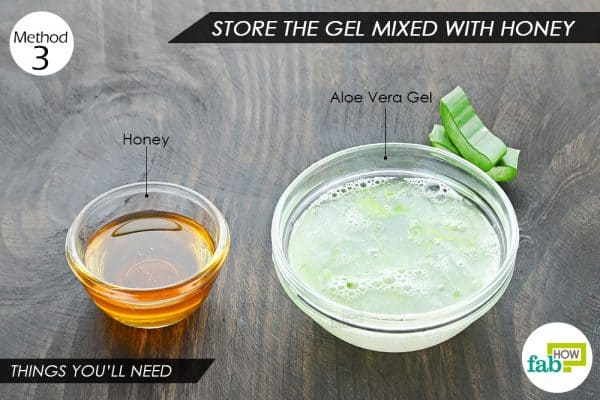 things you'll need to store aloe vera gel
