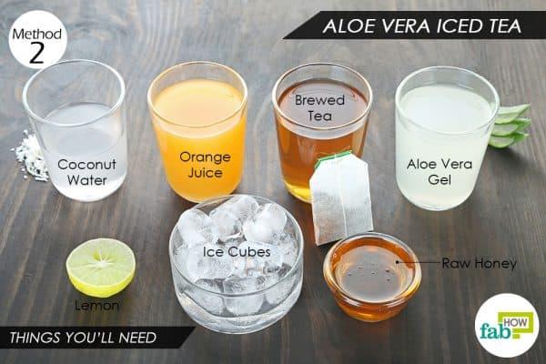 things you ll need to make aloe vera tea
