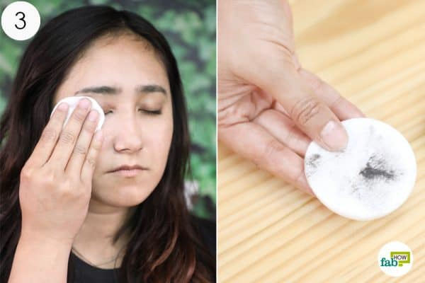 remove the makeup using homemade makeup remover