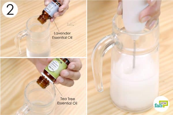 drop the essential oil and blend every thing well