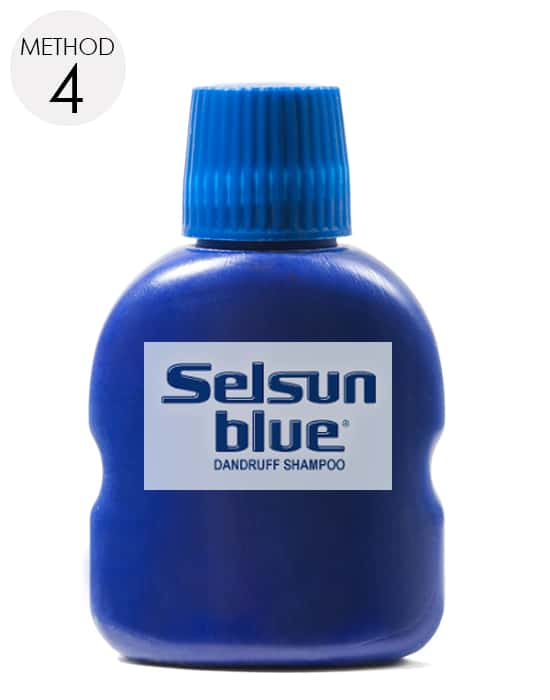 apply selsun blue shampoo on the affected area