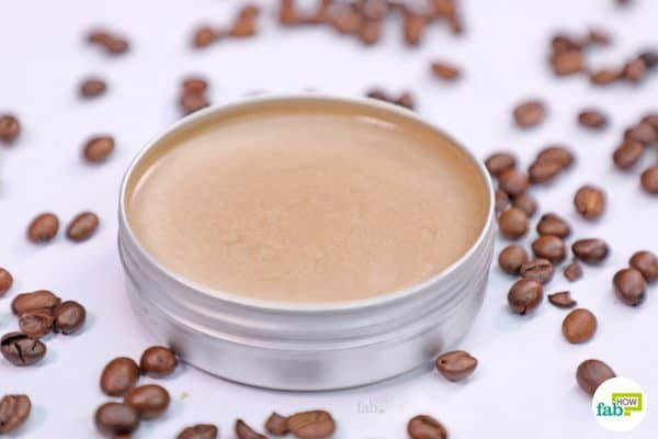 apply the coffee and frankincense oil eye cream to get rid of puffy and tired eyes