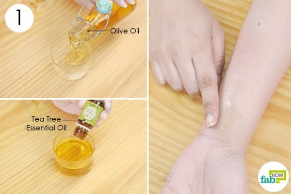 combine both the ingredients to use olive oil remedy for skin disorder