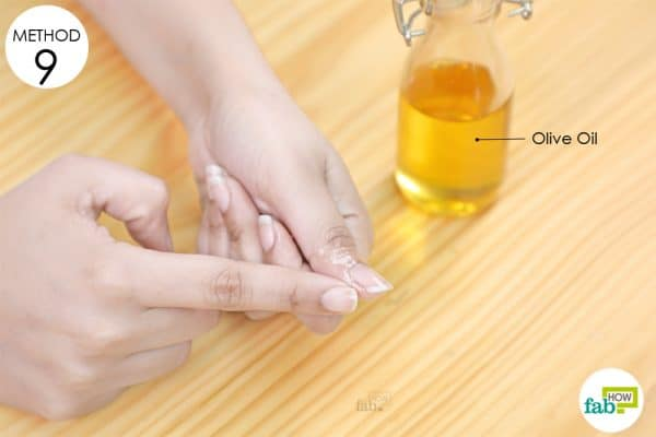 hangnails to use olive oil remedy for skin disorder