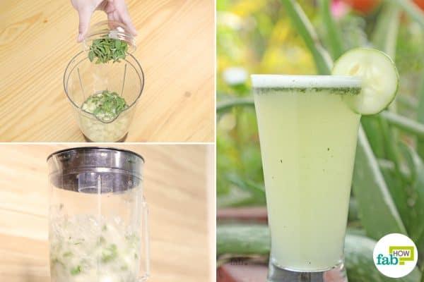 5 minutes recipe on how to make aloe vera detox water