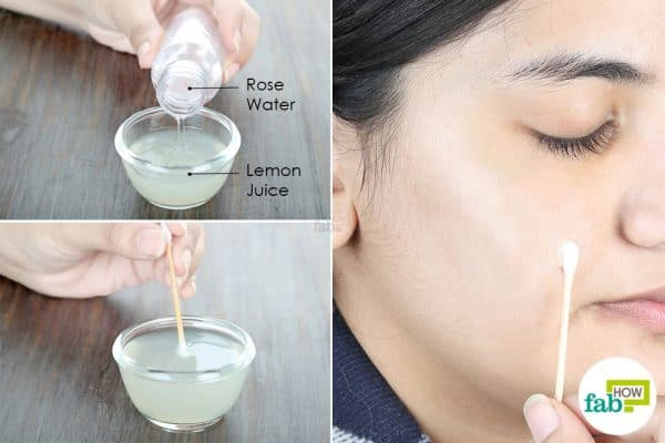 combine both the ingredients and apply to your dark spots