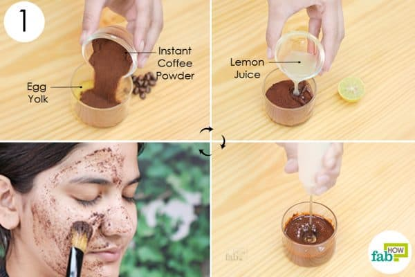 mix and apply the face mask
