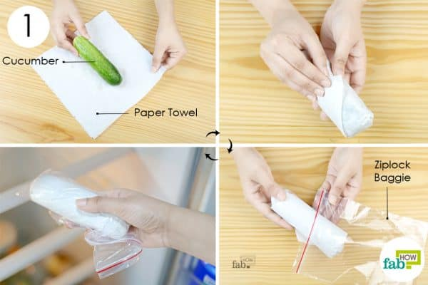 paper towel to store cucumber the right way