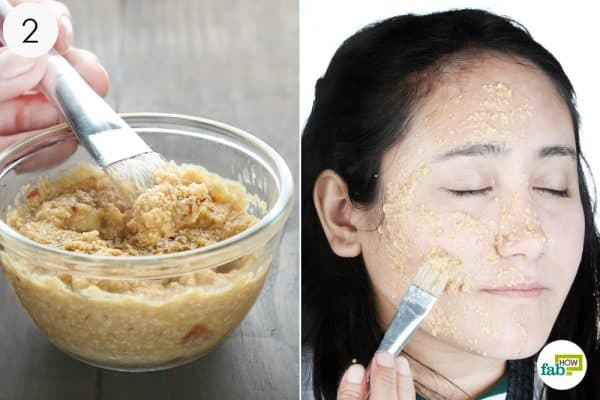apply the paste to your face to treat oily skin