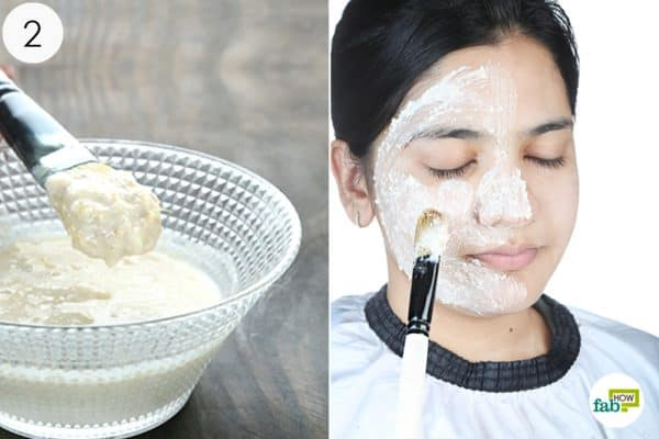 apply the paste to your face with dry skin