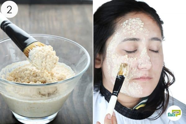 spread the paste evenly on your face to get rid of the oily skin