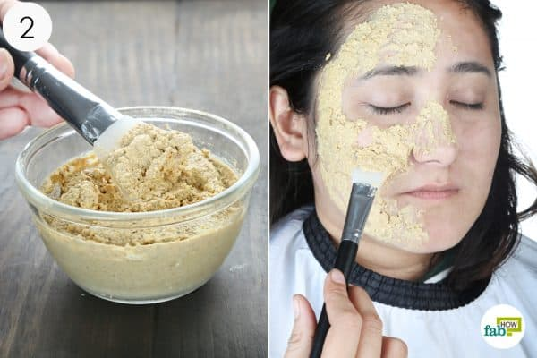apply the face mask to your face to get an oil free skin