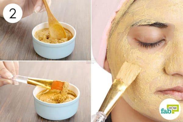 apply diy homemade clay mask