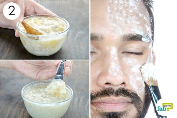apply diy homemade face mask for men