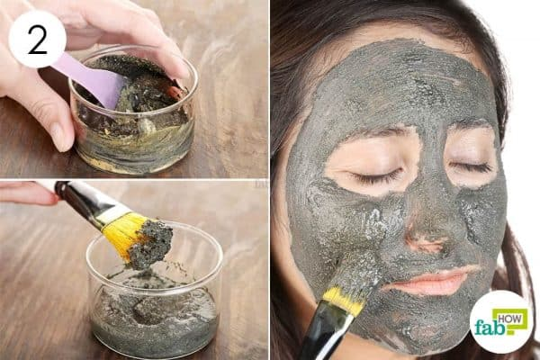 mix apply diy homemade clay mask