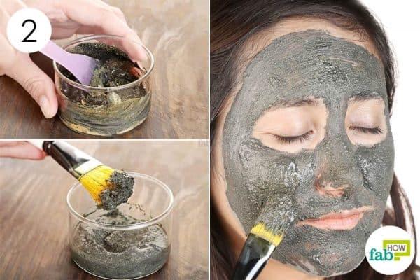 mix apply diy homemade clay mask