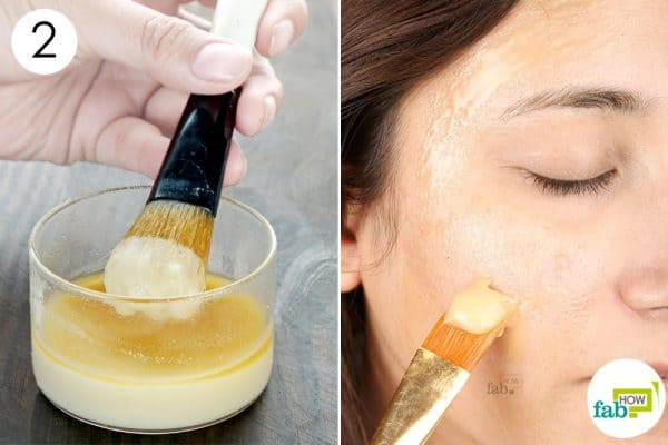 scrub your face with the mask to use DIY vegan face masks