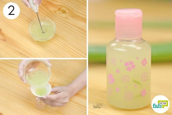 whisk to make diy homemade anti acne cream gel