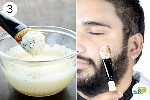 apply diy homemade facemask for men