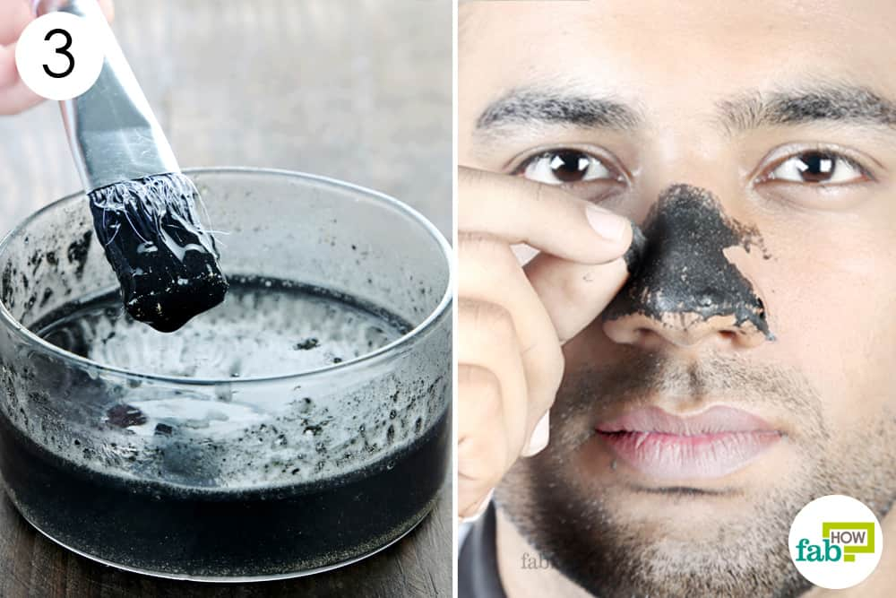 Use this homemade peel off men's face mask to remove blackheads