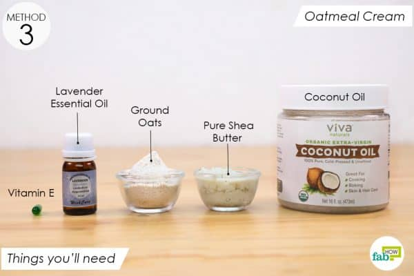 things you'll need to make oatmeal eczema cream