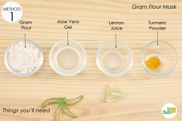 things you'll need to make gram flour face mask