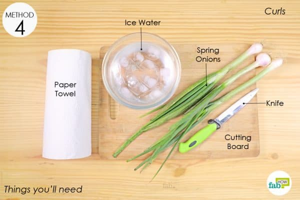 things you ll need to chopp spring onions