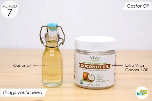things you'll need to make castor oil and coconut oil application