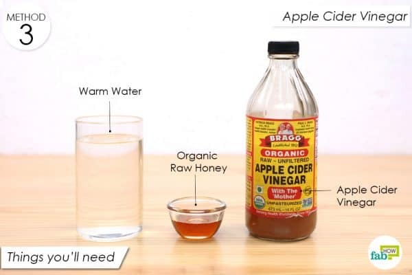things you'll need to make apple cider vinegar drink to cure vaginal atrophy at home
