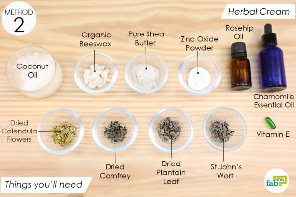 things you'll need to make herbal cream for eczema