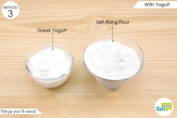 things you'll need to make pizza dough with yogurt
