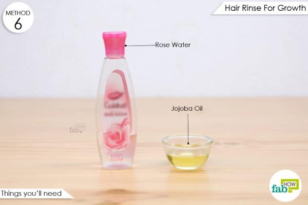things you'll need to make rose water hair rinse for hair growth