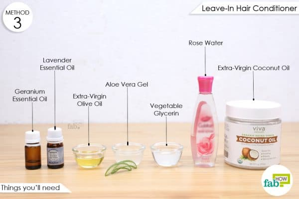 things you'll need to make rose water leave-in conditioner
