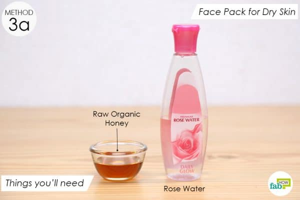 things you'll need to make rose water pack for dry skin