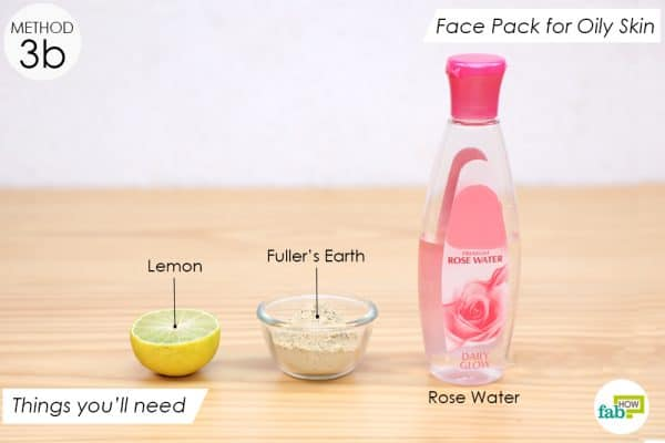 things you'll need to make rose water face pack for oily skin