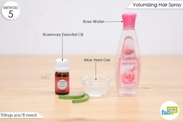 things you'll need to make rose water volumizing hair spray
