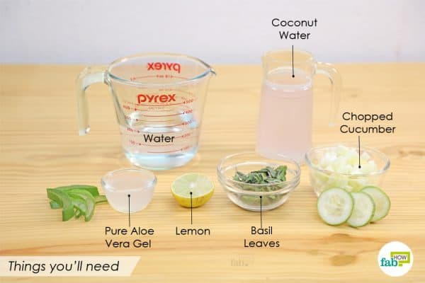 things you'll need to make 5 minutes aloe vera water recipe to detoxify your body